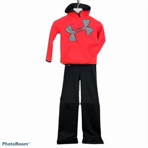 UNDER ARMOUR Girls Small ColdGear Hoodie & Pants
